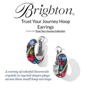 Brighton Earrings Swarovski Hoops (NWT)✔